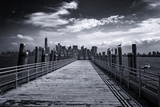 New York City Skyline from Pier on Liberty Island - 96015759