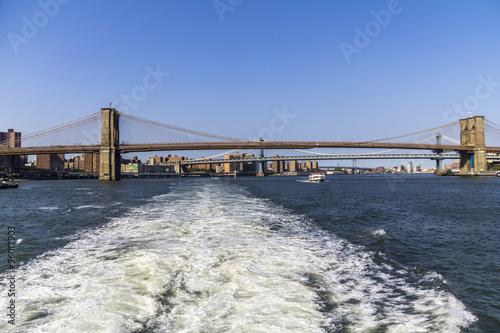 Foto op Aluminium New York Bridge to Manhattan