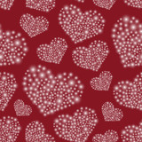 hearts from little lights red seamless pattern eps10