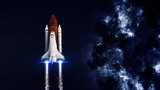 Space shuttle taking off on a mission. Elements of this image furnished by NASA - Fine Art prints