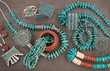 "Collection of Vintage Native American Jewelry . A Santo Domingo ""Depression Era"" Necklace, and Turquoise"