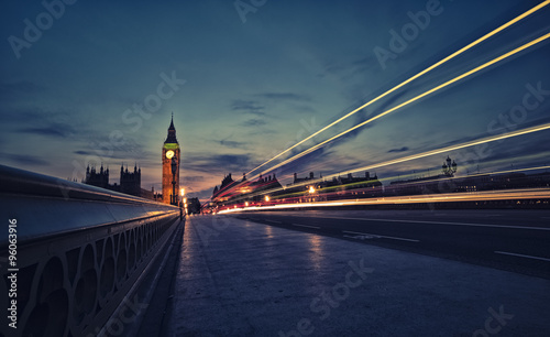 Foto op Canvas Londen London skyline at twilight