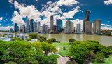 BRISBANE, AUS - NOV 13 2015: Panoramic view of Brisbane Skyline