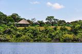 Local huts in the Amazon Rainforest, Manaos, Brazil