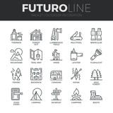 venkovní rekreační ikony futuro linka set