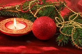 Christmas red decoration - 96094327