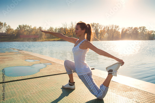 exercise by the lake Plakát