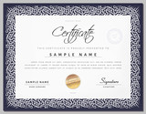 Gift Vintage Certificate / diploma / award template with border as celtic pattern