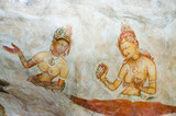 5th Century Cave Paintings at Sigiriya - Dambulla - Sri Lanka
