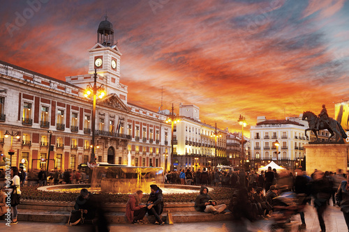 Foto op Plexiglas Madrid Madrid, Puerta del Sol