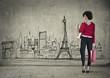 Woman doing shopping in Paris