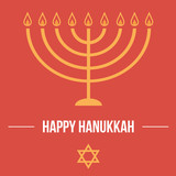 Fototapety Hanukkah card template. Jewish traditional holiday.