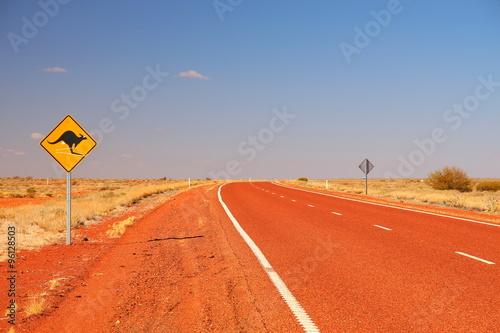 Papiers peints Brique Australian road sign on the highway