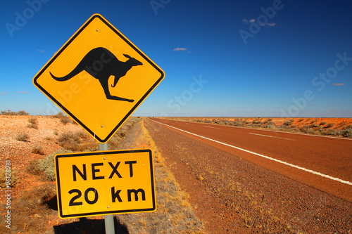 Australian road sign on the highway