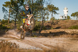 Fototapety Enduro bike rider
