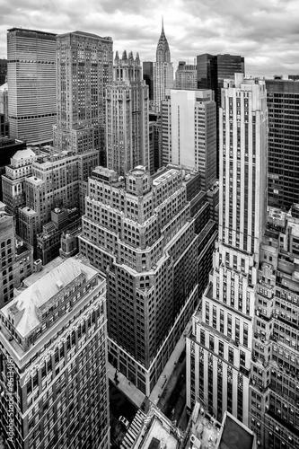 New York City Manhattan aerial view Poster