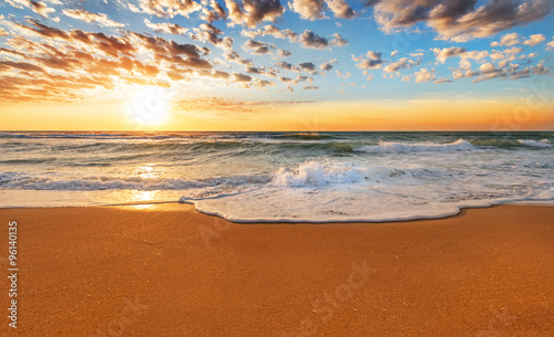 Fotobehang Strand Sea sunrise.