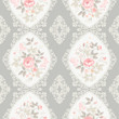 seamless floral pattern with lace and borders