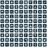 Fototapety city 100 icons universal set