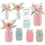 Wedding Floral with Mason Jar