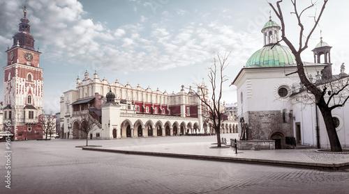 Zdjęcia na płótnie, fototapety na wymiar, obrazy na ścianę : Krakow main square, Poland