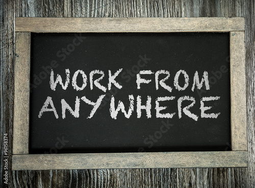 Work From Anywhere written on chalkboard Poster