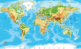 Physical map of the world - 96170593