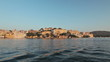 Udaipur City Palace, view  from Lake Pichola on sunset. Udaipur, India