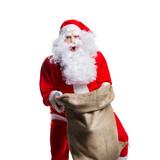 überraschter Weihnachtsmann