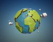 Vector Low Poly Earth