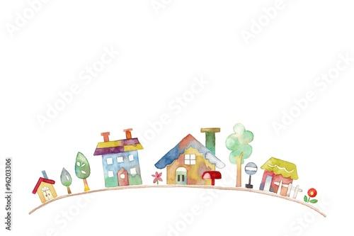 Plakát カラフルな街並