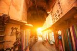 Fototapety Jaisalmer fort shopping street