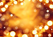 Christmas holiday background. Golden abstract defocused bokeh