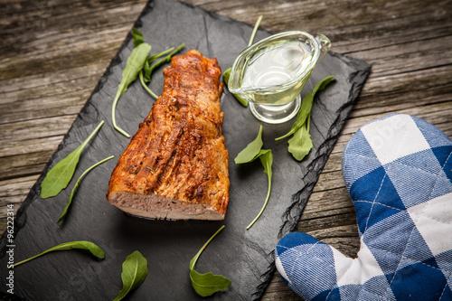 Delicious baked pork