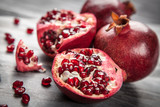 Fototapety Red juice pomegranate