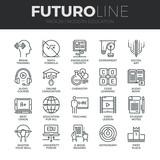 Fototapety Modern Education Futuro Line Icons Set