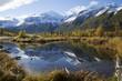 Snowy Alaska Mountain Mirror Lake