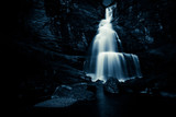 waterfall in the night