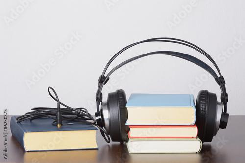 Poster Hörbücher mit Kopfhörer