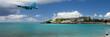 Постер, плакат: Landing at Sint Maarten Airport