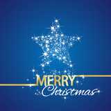 Fototapety Christmas symbol stars blue background