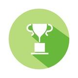 Icono trofeo mod10 verde botón sombra
