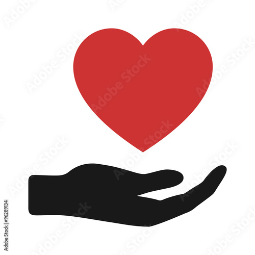 Charity or give love flat icon for apps and websites