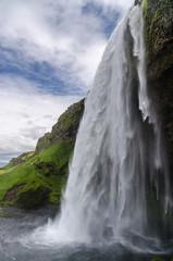 Seljalandsfoss Island Seitenansicht