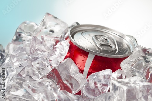 red soda in can