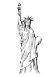 Fototapety Hand drawn Liberty statue - vector