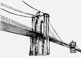 Fototapety Hand drawn Brooklyn Bridge - vector