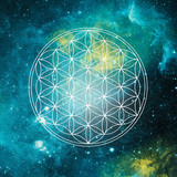 Fototapety flower of life - unviverse glow