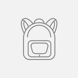 Fototapety Backpack line icon.