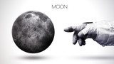 Moon - High resolution best quality solar system planet. All the planets available. This image elements furnished by NASA